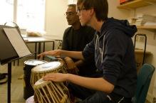 Kuljit Bhamra teaching students at last year's SAM course