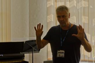 Composer explaining ideas