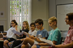 Young composers with scores
