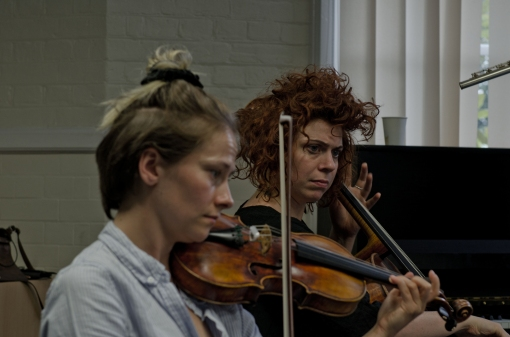 Violinist and Cellist performing