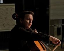 Cellist Richard Harwood performing
