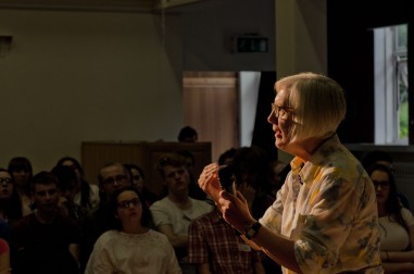 Judith Weir explaining an idea