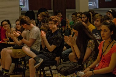 young composers applauding