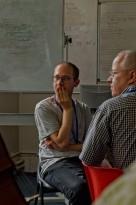 Two tutors thinking