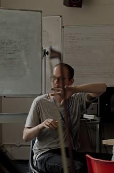 A composer explaining composer explaining concepts