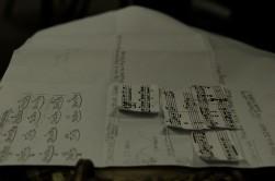 handmade musical notation