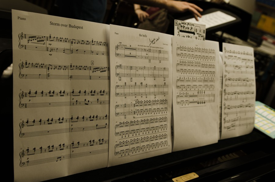 Music Manuscript on a piano