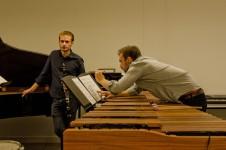 Two Musicians Preparing