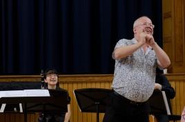 tutor Daivd horne intorducing a concert